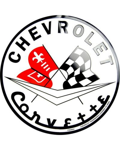 Plechová cedule Chevrolet Corvette round 30 cm