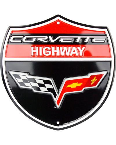 Plechová cedule Corvette...