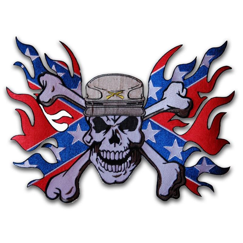 Moto nášivka Confederate Soldier XXL na záda 30 cm x 22 cm