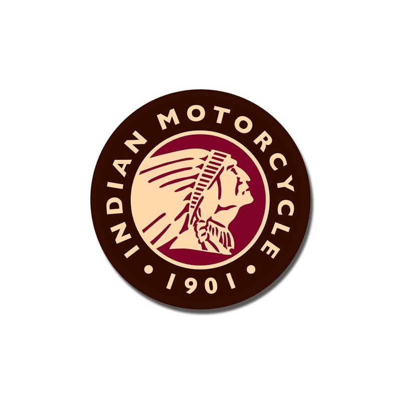 Plechová cedule Indian Logo Round 30cm