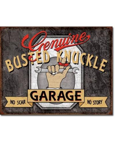 Plechová cedule Genuine Busted Knuckle 30cm x 40cm