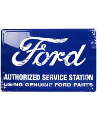 Plechová cedule Ford Authorized Service Station 45 cm x 30cm