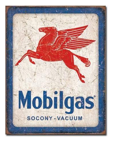 Plechová cedule Mobilgas Pegasus 32 cm x 40 cm
