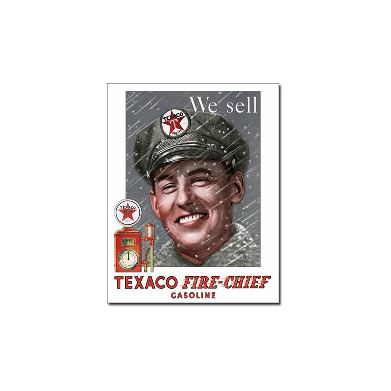 Plechová cedule Texaco - Pump Attendant 32 cm x 40 cm