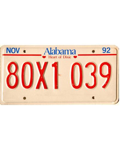 Americká SPZ Alabama Red Blue
