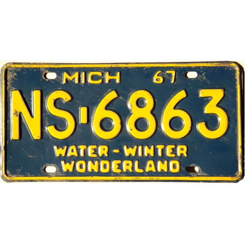 Americká SPZ Michigan-NS-6863