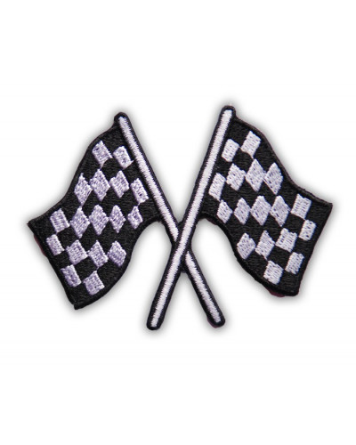 Moto nášivka checkers flags 7 cm x 5 cm