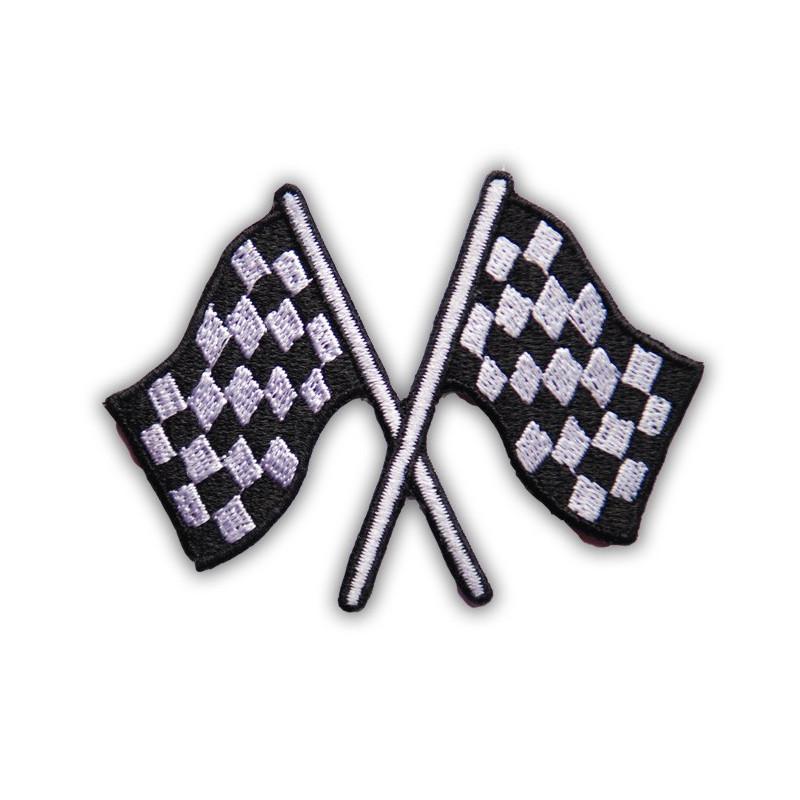 Moto nášivka checkers flags 7 cm x 5 cm