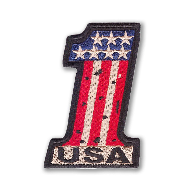 Moto nášivka USA 1 vintage 8cm x 6 cm