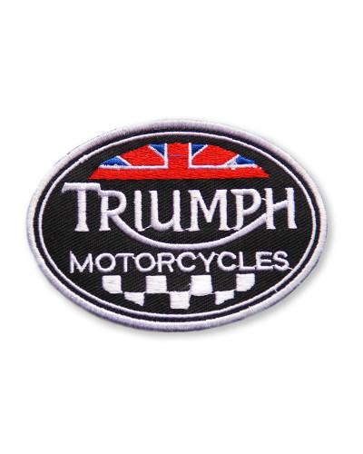 Moto nášivka Triumph oval 8 cm x 6 cm