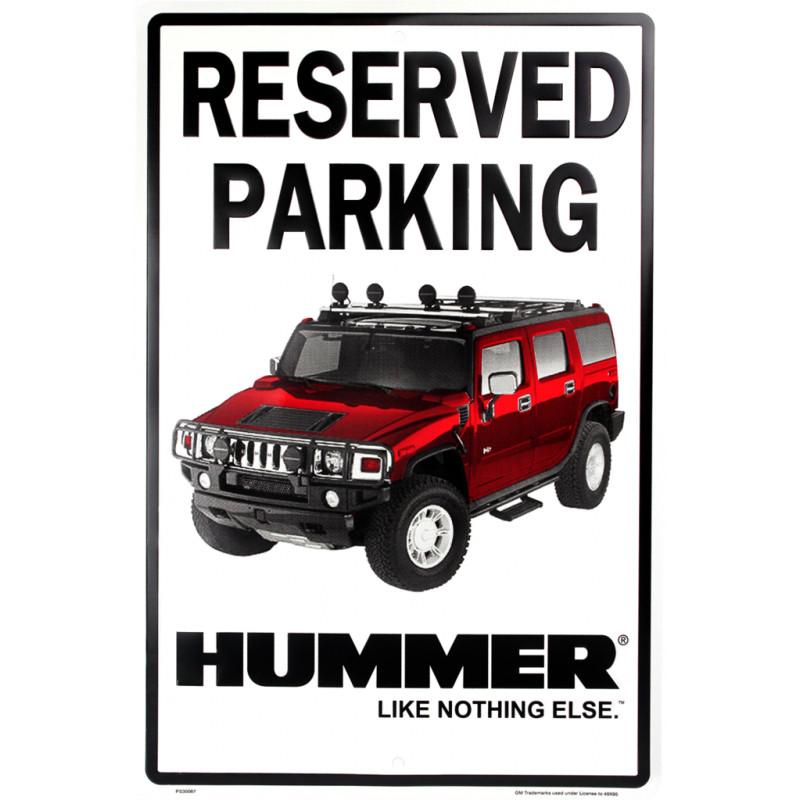 Plechová cedule Hummer Parking