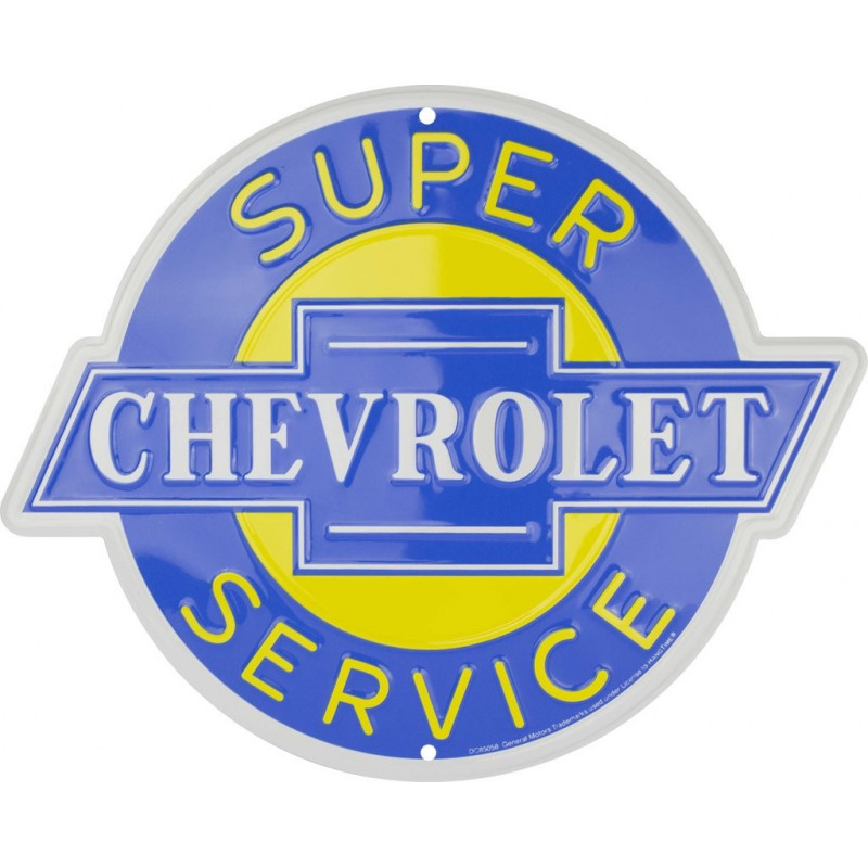 Plechová cedule Chevrolet Super Service 30 cm