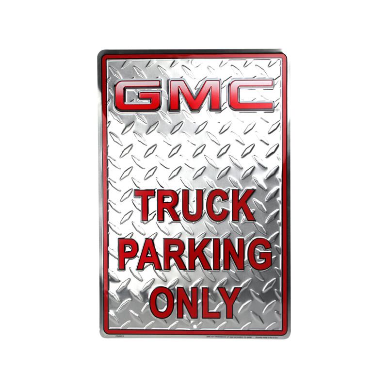 Plechová cedule GMC Parking 30 cm x 45 cm