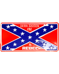 Americká SPZ Confederate Flag Im Rebel