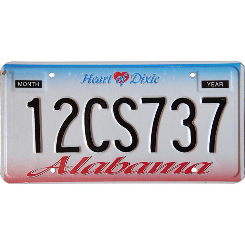 Americká SPZ Alabama Heart of Dixie