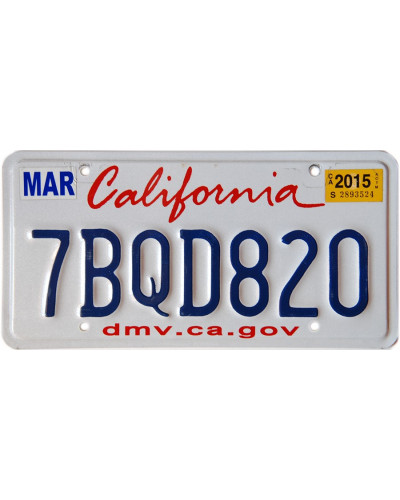 Americká SPZ California...
