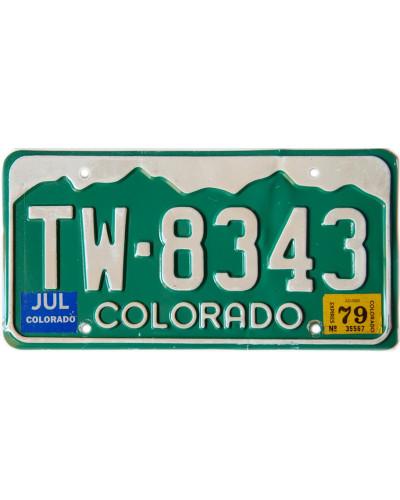 Americká SPZ Colorado Green