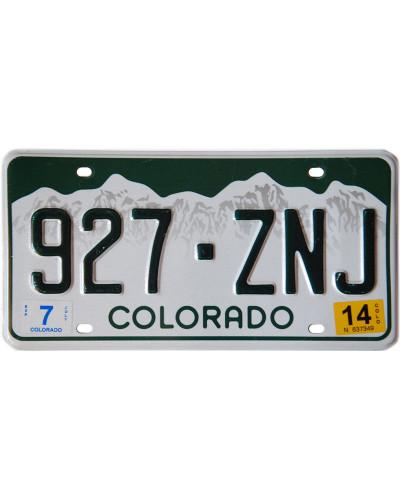 Americká SPZ Colorado White