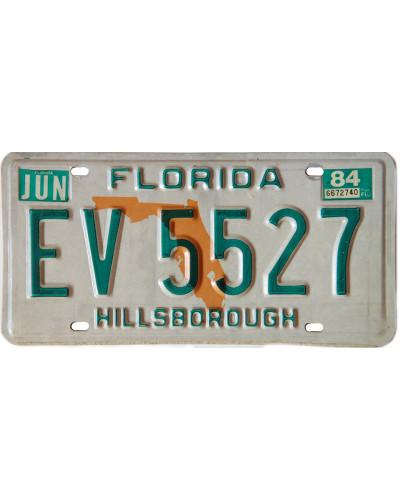 Americká SPZ Florida Orange Map