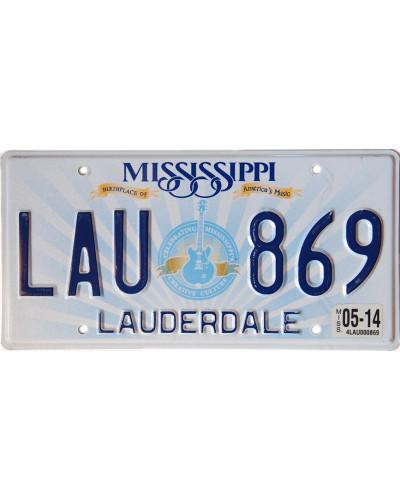Americká SPZ Mississippi Lucille Guitar