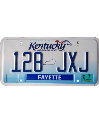 Americká SPZ Kentucky Unbridled Spirit
