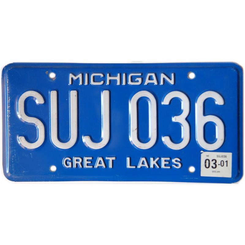 Americká SPZ Michigan Blue