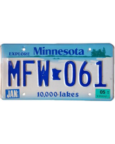 Americká SPZ Minnesota 10 000 lakes