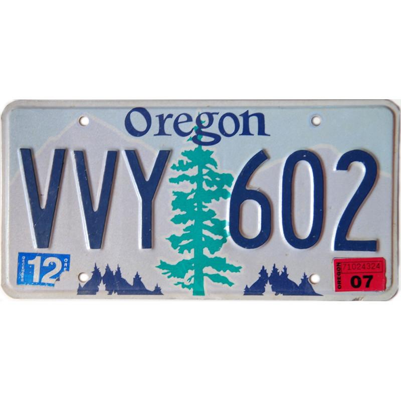 Americká SPZ Oregon Tree