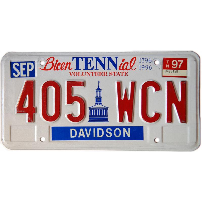 Americká SPZ Tennessee Bicentennial