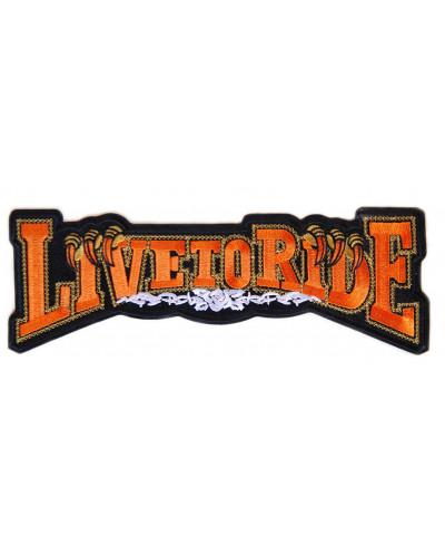 Moto nášivka Live To Ride - XXL na záda