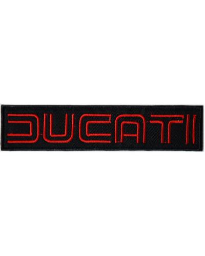 Moto nášivka Ducati černá 12 cm x 2,5 cm