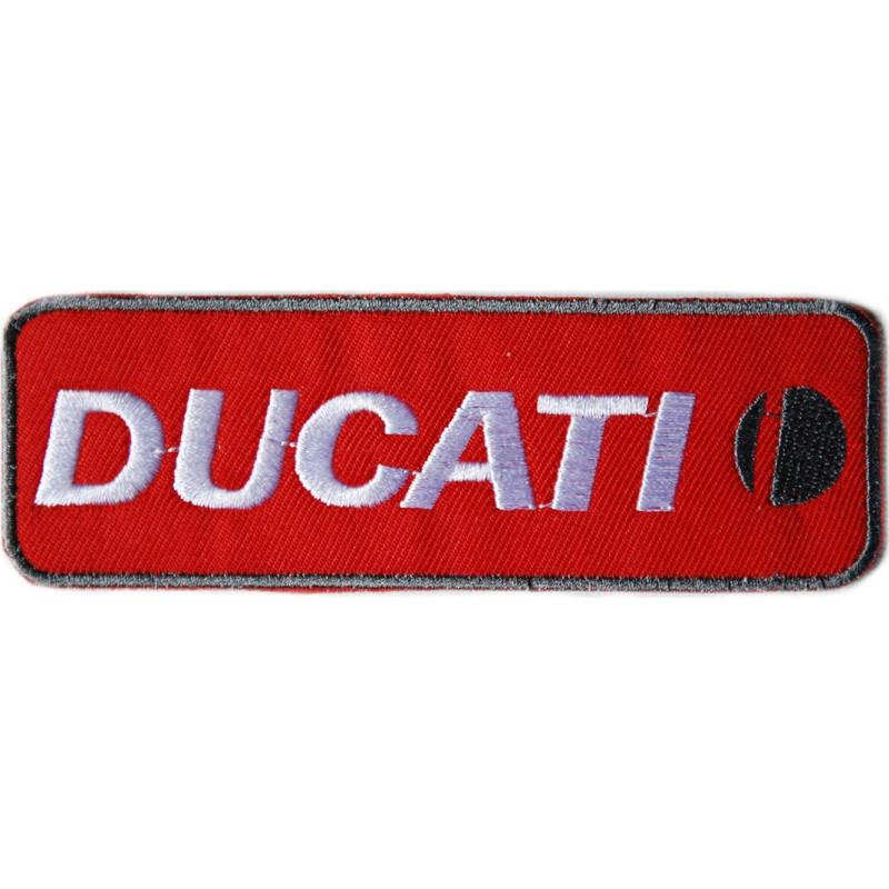 Moto nášivka Ducati červená 11,5 cm x 4 cm
