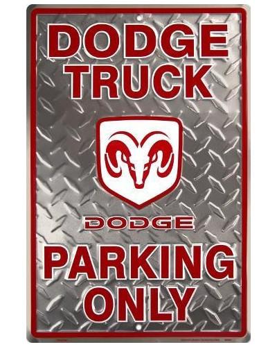 Plechová cedule Dodge Truck Parking 30 cm x 45 cm