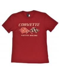 tričko CORVETTE Vintage Racing červené