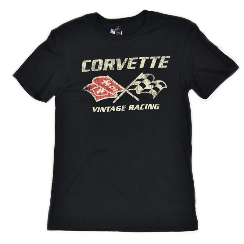tričko CORVETTE VINTAGE RACING černé