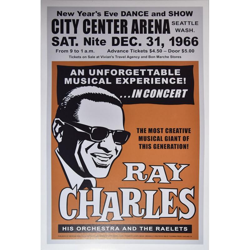 Koncertní plakát Ray Charles, Seattle 1966