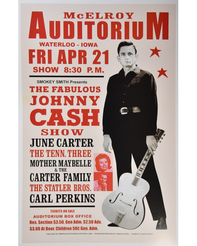 Koncertní plakát Johnny Cash, Iowa 1967
