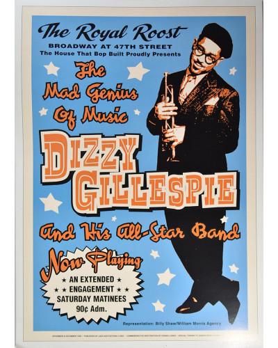 Koncertní plakát Dizzy Gillespie, The Royal Roost in NYC, 1948