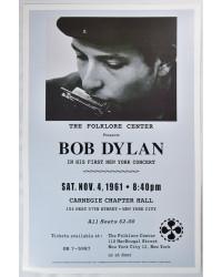 Koncertní plakát Bob Dylan 1961