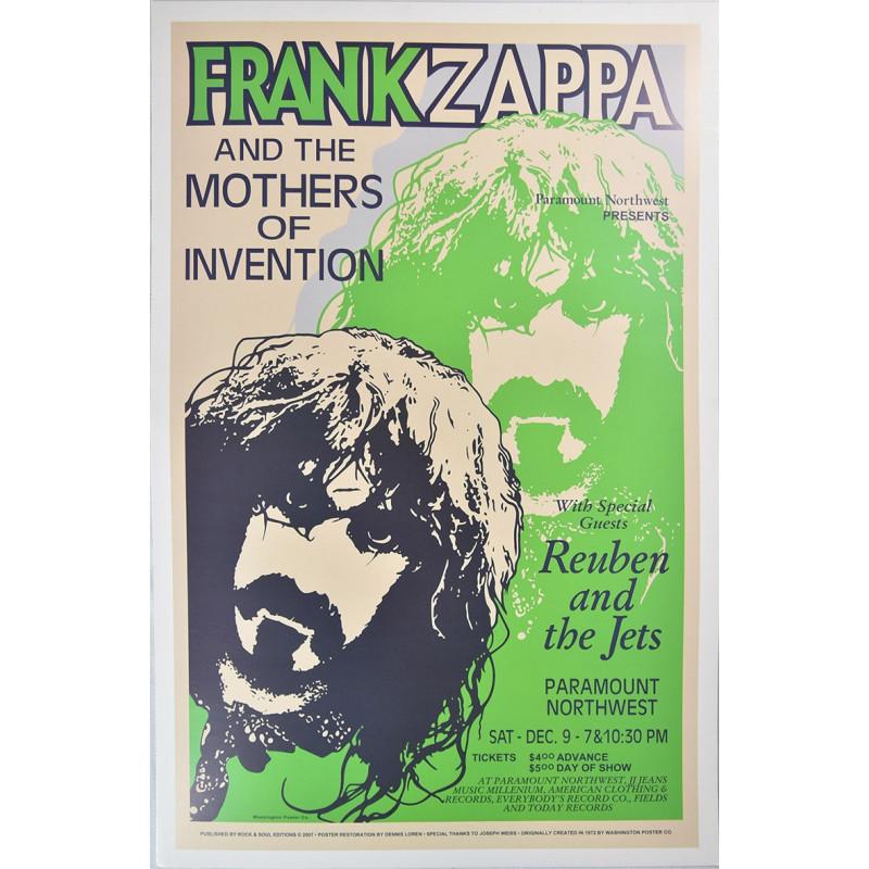 Koncertní plakát Frank Zappa 1972