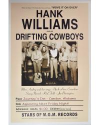 Koncertní plakát Hank Williams, Alabama, 1947