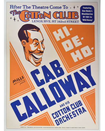 Koncertní plakát Cab Calloway, The Cotton Club, NYC, 1931