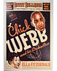 Koncertní plakát Chick Webb, 1935
