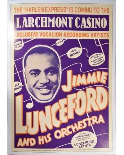 Koncertní plakát Jimmie Lunceford, 1938