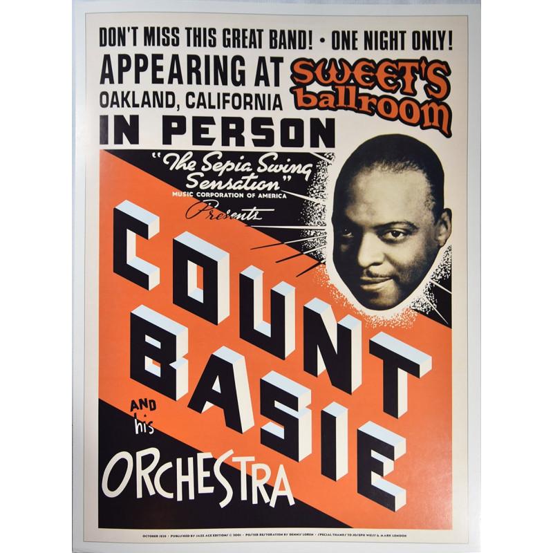 Koncertní plakát Count Basie, 1939