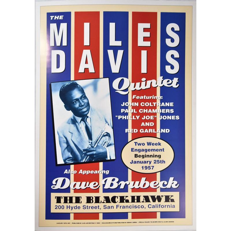 Koncertní plakát Miles Davis, San Francicso 1957