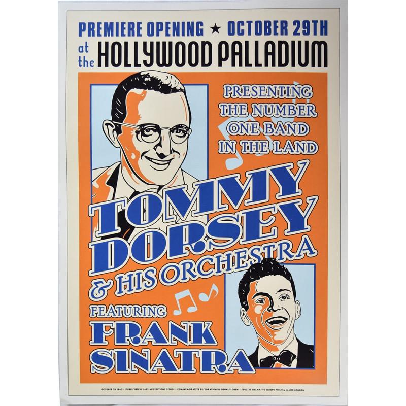 Koncertní plakát Tommy Dorsey and Frank Sinatra, Hollywood 1940