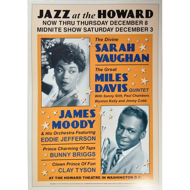 Koncertní plakát Sarah Vaughan+Miles Davis, Washington DC, 1960