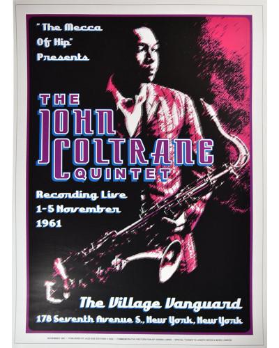 Koncertní plakát John Coltrain, New York 1961