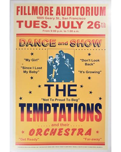 Koncertní plakát The Temptation 1966